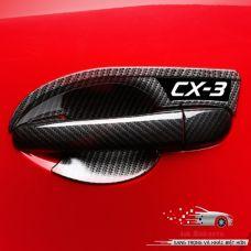 Bộ ốp bảo vệ tay nắm cửa CX-3 cao cấp vân cacbon
