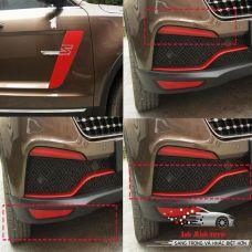 Bộ dán ngoại thất xe ZOTYE màu đỏ