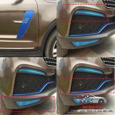 Bộ dán ngoại thất xe ZOTYE màu xanh