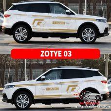 Bộ đề can dán ngoại thất xe ZOTYE 03